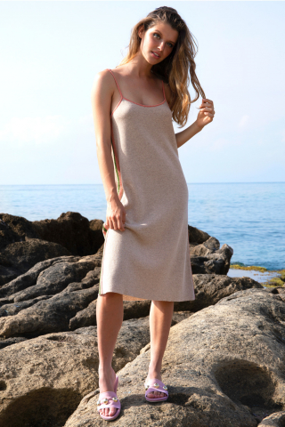 Knit dress thin straps