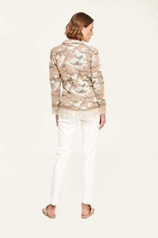 Fringed Knit camo jacket