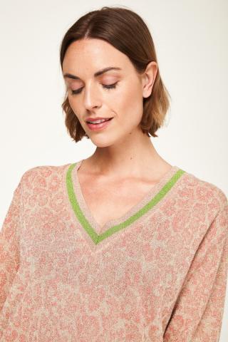Pullover in maglia scollo a v