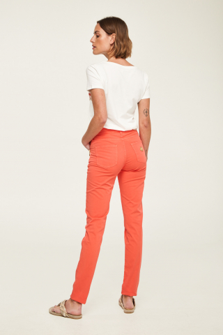 Slim mid-rise trousers