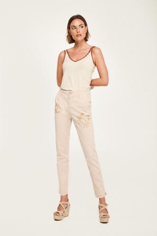Pantaloni chino con granchi